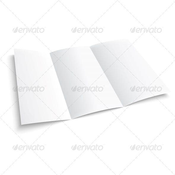 Blank Trifold Paper Brochure.