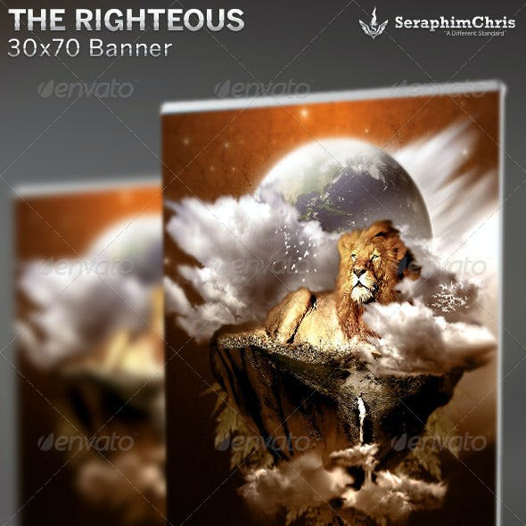 The Righteous: Church Banner Template