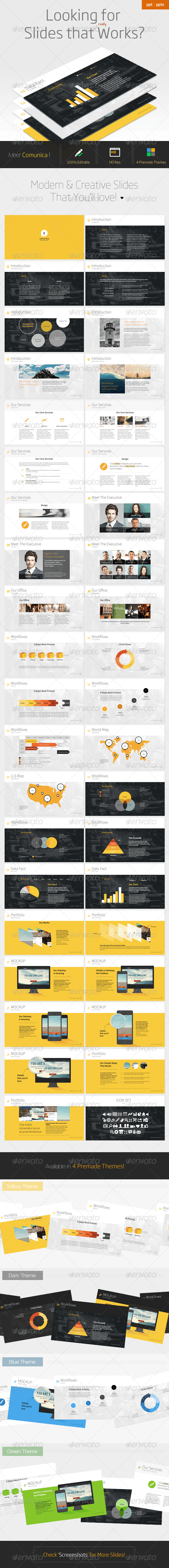 Comunica - Modern Powerpoint Template - PowerPoint Templates Presentation Templates