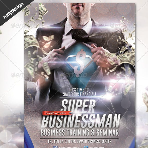 Super Businessman Professional Seminar Training