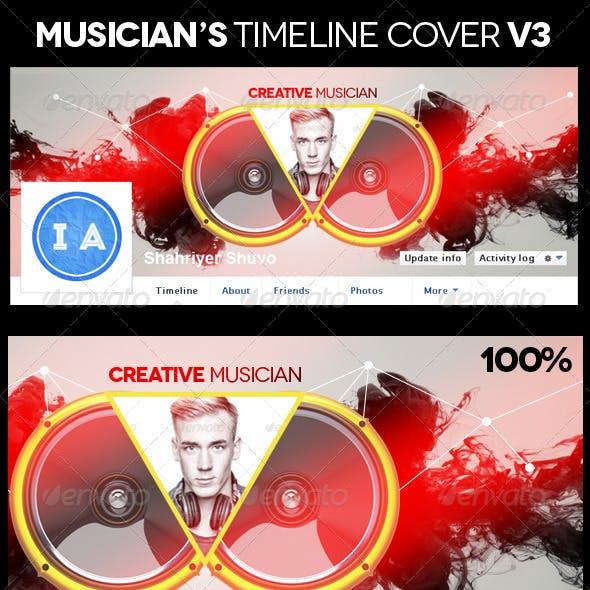 Musician's Facebook Timeline Cover V3