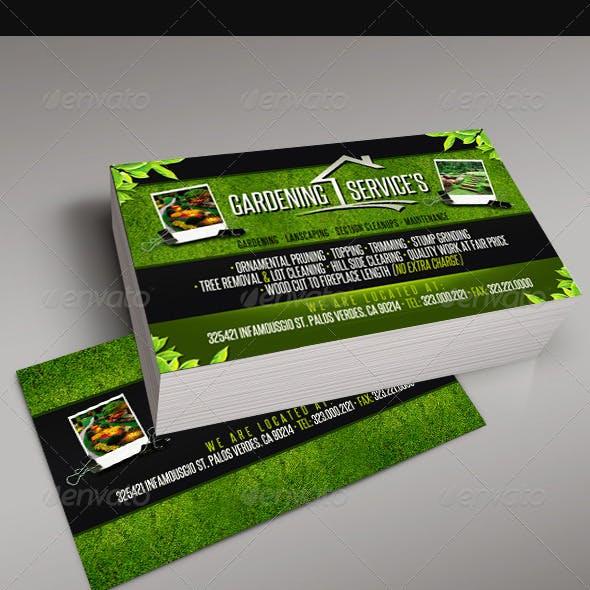 Gardening Business Card 5