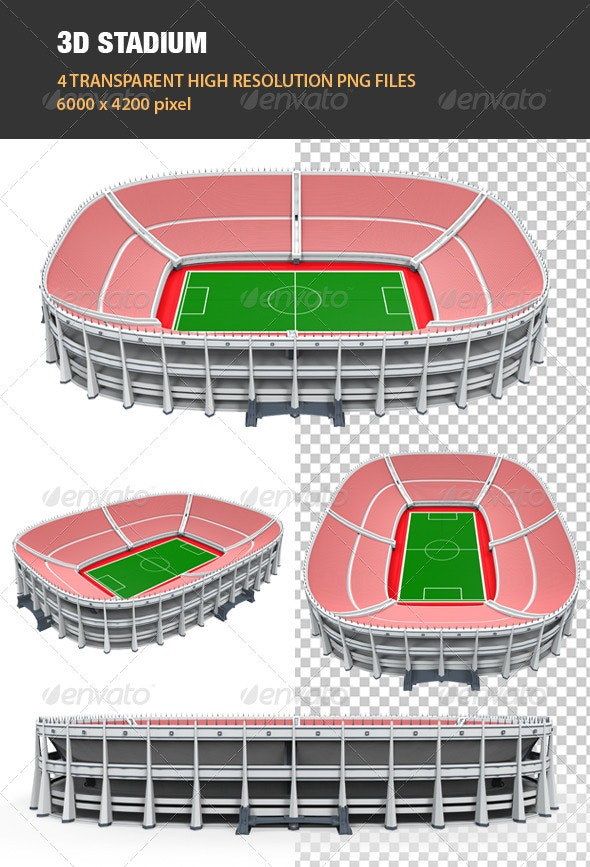 3D Stadium Building - Architecture 3D Renders