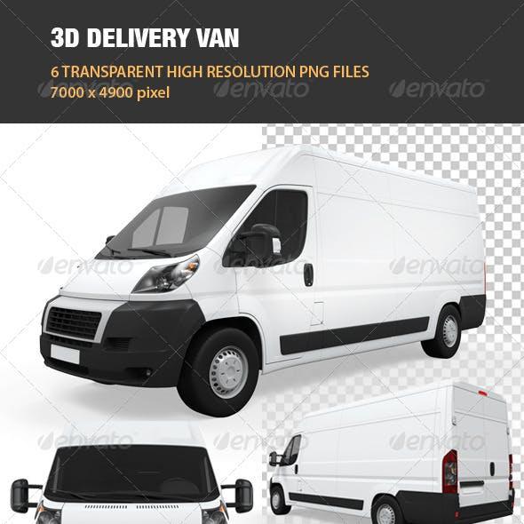 3D Delivery Van