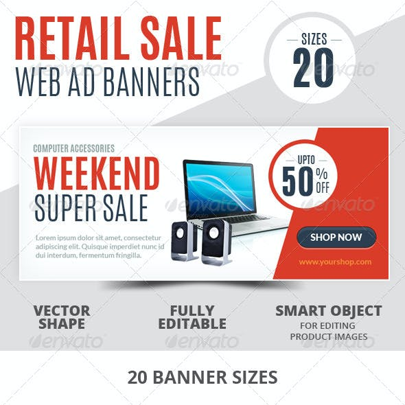 Weekend Super Sale Retail Web Ad Banners
