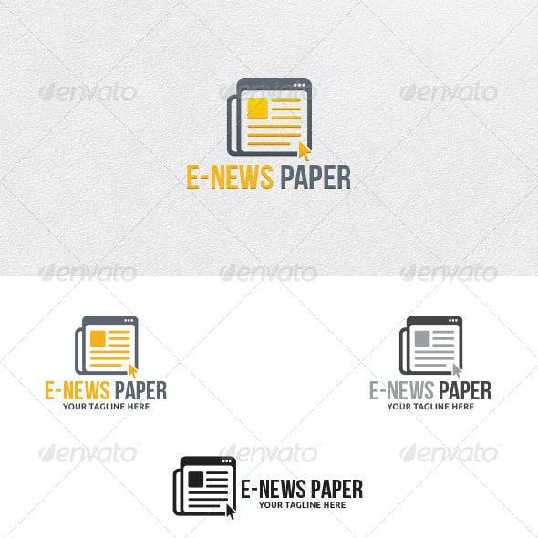 E-News Paper - Logo Template