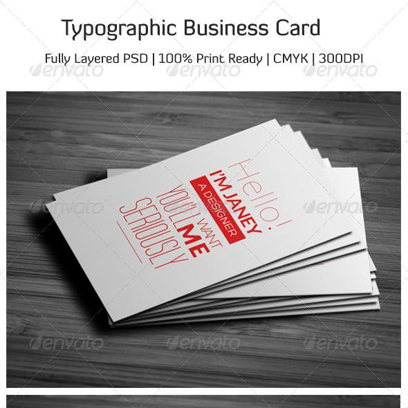 Typographic Business Card