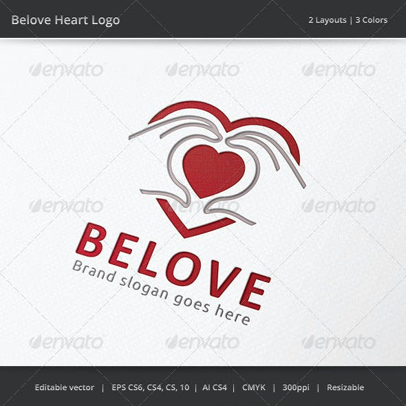 Beloved Heart Hand Logo