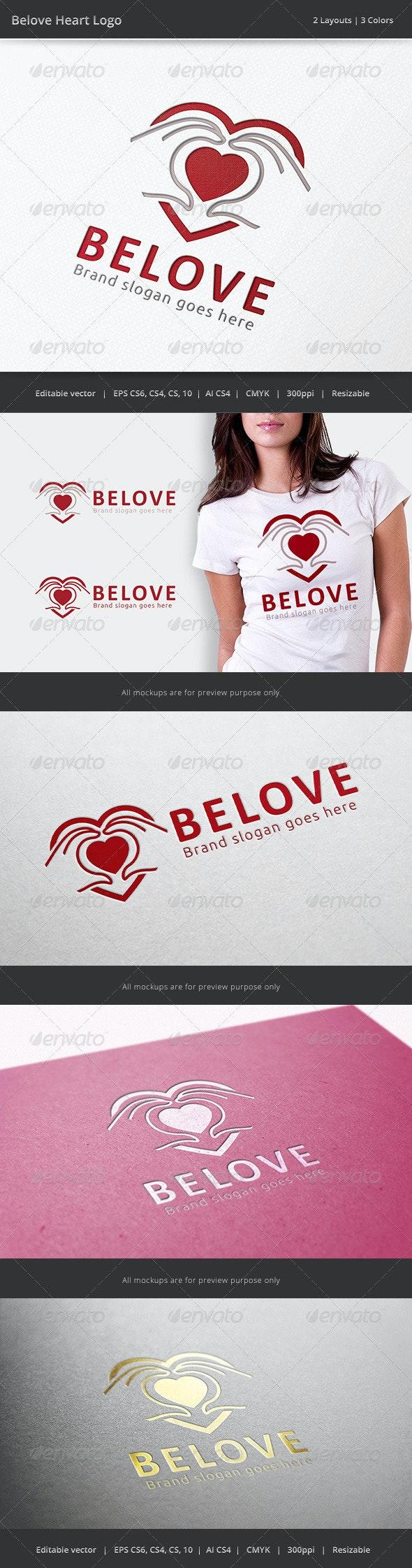 Beloved Heart Hand Logo - Objects Logo Templates