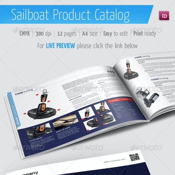Sailboat Product Catalog - Marine Brochure