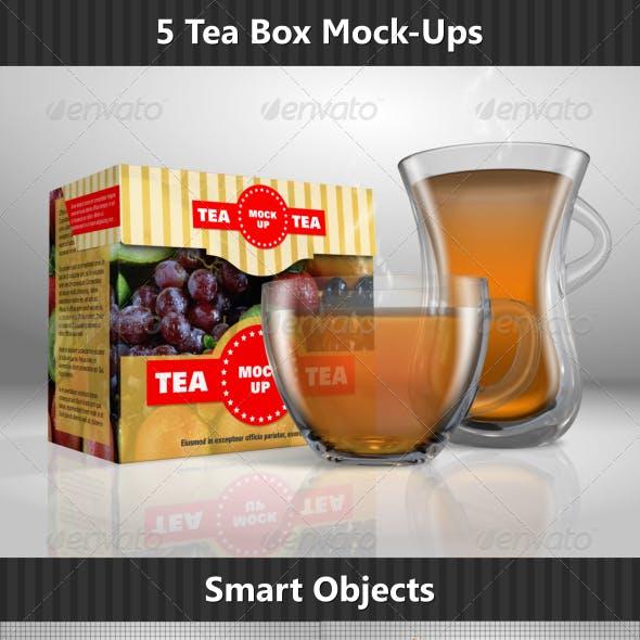 Tea Box Mock-Ups