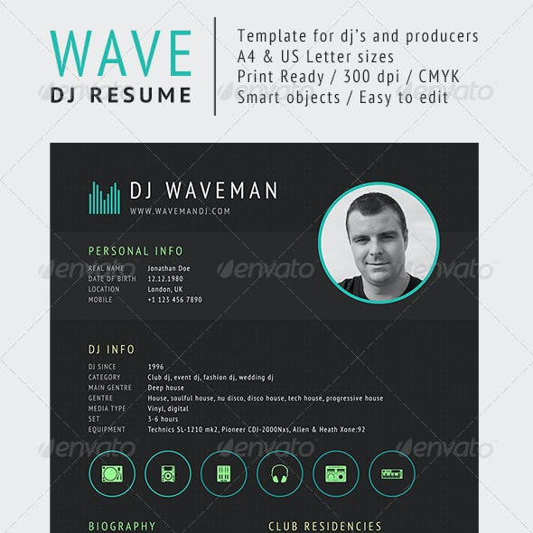 Wave - DJ Resume / Press Kit