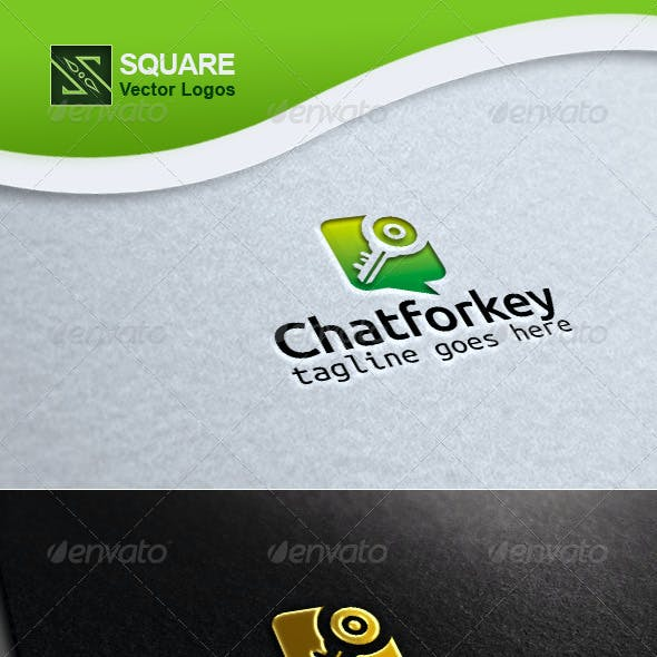 Chat, Key Vector Logo Template