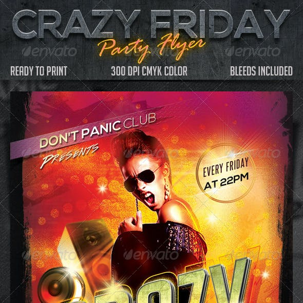 Crazy Friday Party Flyer