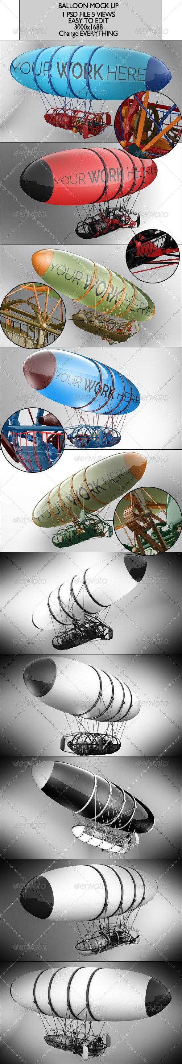 Balloon Mock Up - Product Mock-Ups Graphics