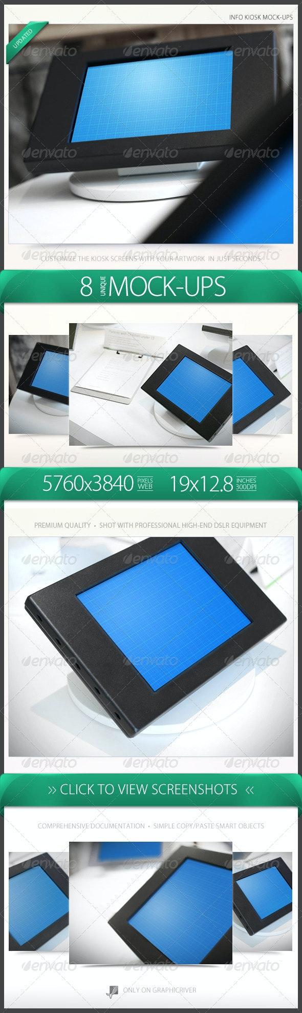 Info Kiosk Mock-Ups - Mobile Displays