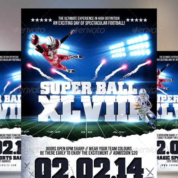 Super Ball/College Football Flyer