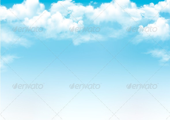 Blue Sky with Clouds Background - Nature Conceptual