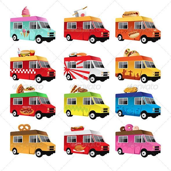 Food Trucks - Objects Vectors