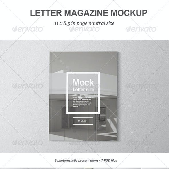 Letter Magazine / Brochure Mock-up