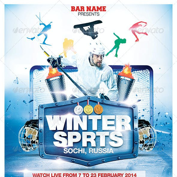 Winter Sports Poster Template