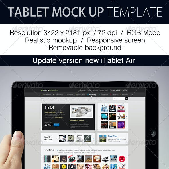 Tablet Mockup Template