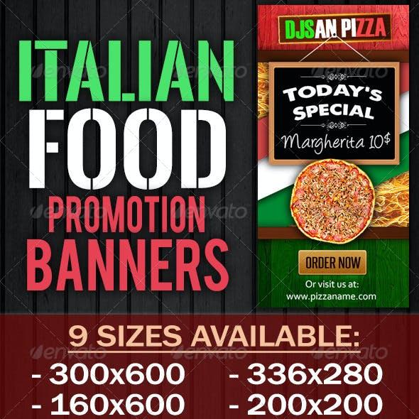 Italian Food Promotion Banner