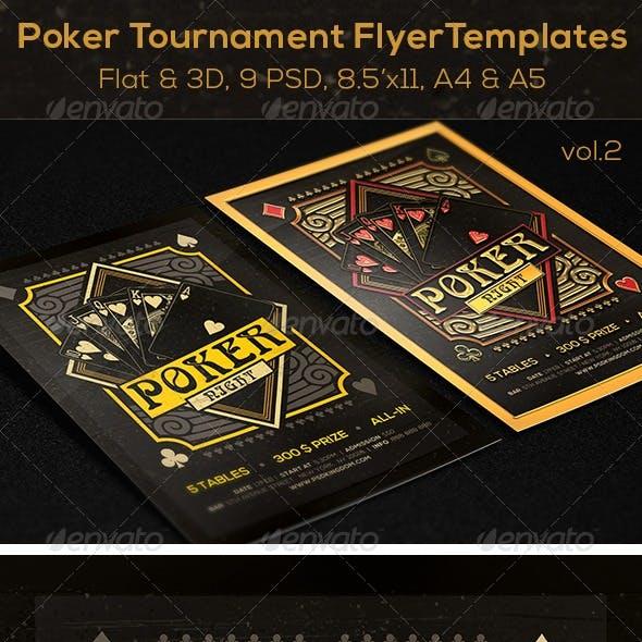 Poker Magazine Ad, Poster or Flyer - Flat & 3D v2