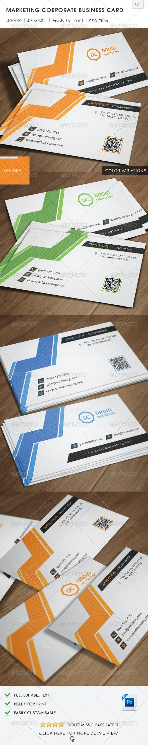 Marketing Corporate Business Card - Corporate Business Cards