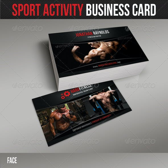 Sport Activity Business Card