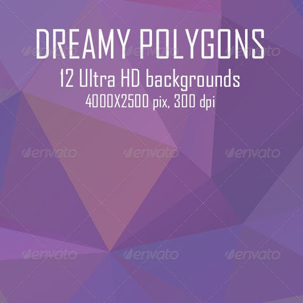 Dreamy Polygon Backgrounds
