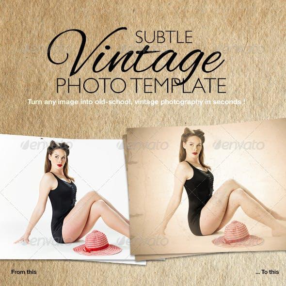 Subtle Vintage Photo Template