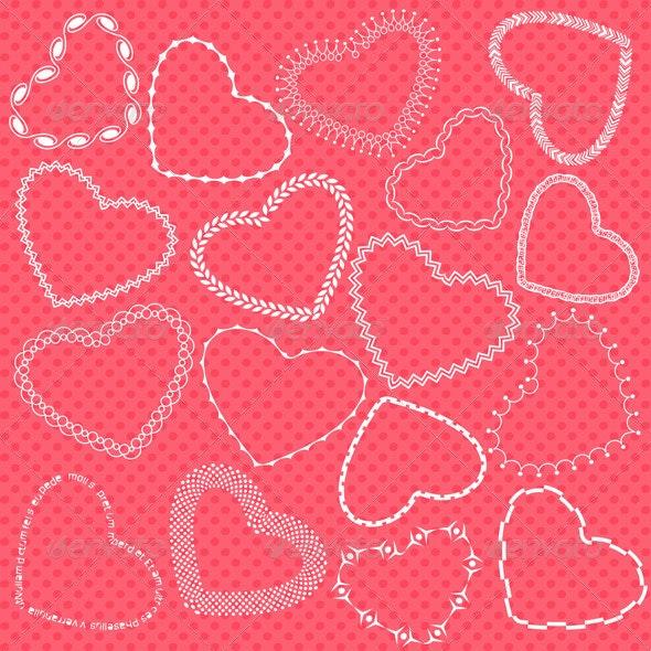 Decorative Valentine Hearts - Valentines Seasons/Holidays