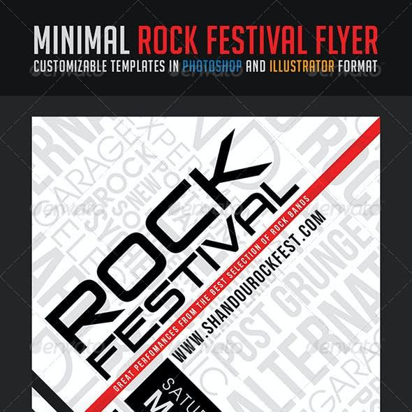 Minimal Rock Festival Flyer
