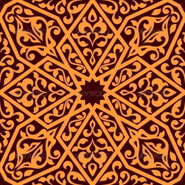 Arabian Seamless Tile Pattern - Backgrounds Decorative