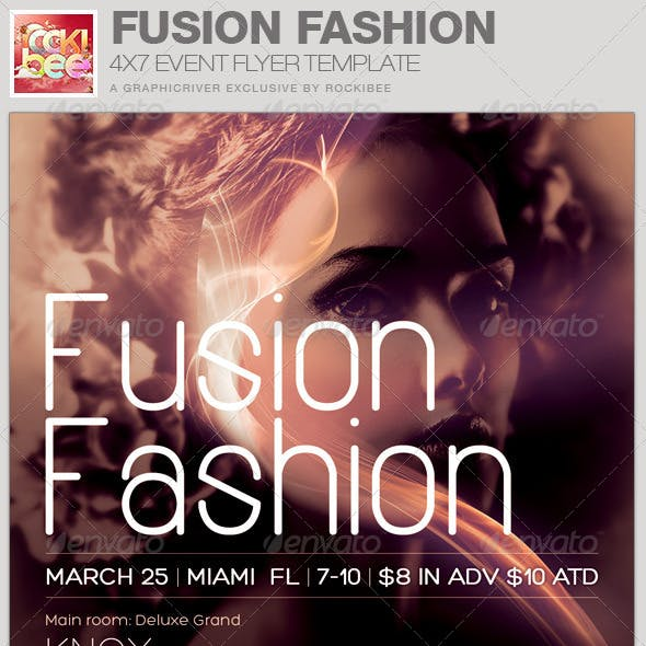 Fusion Fashion Event Flyer Template