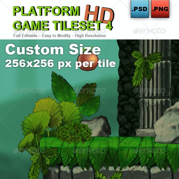 Platform Game Tileset 4: Abandoned Castle