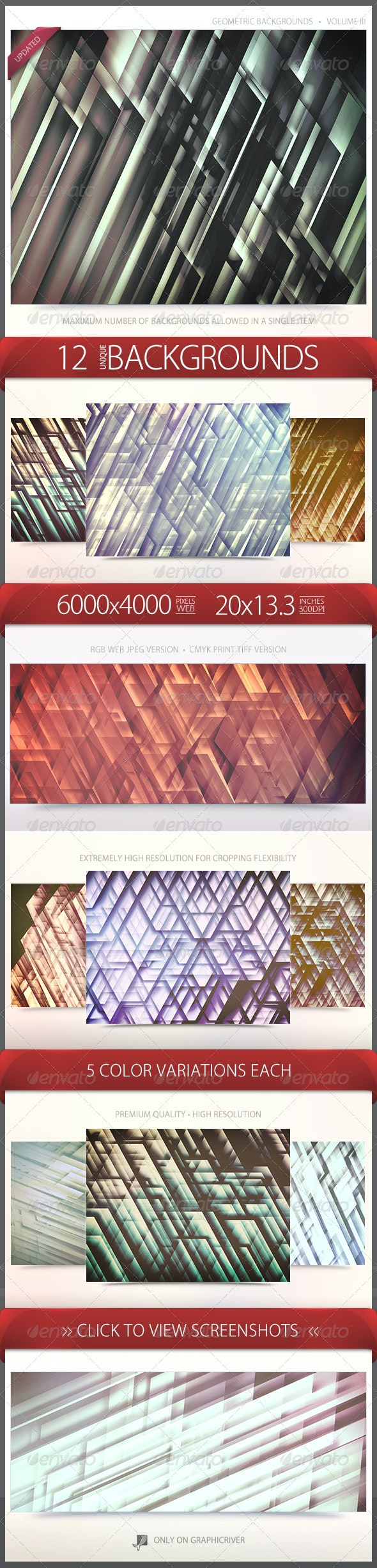 Geometric Backgrounds Volume 3 - Abstract Backgrounds