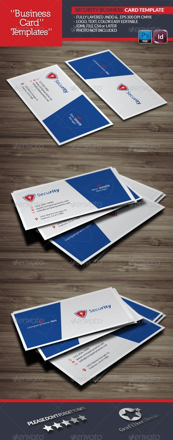 Security Business Card Template - Business Cards Print Templates