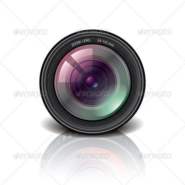 Camera Lens Icon Vector Illustration