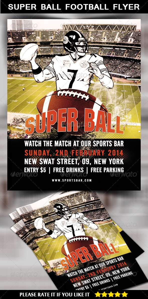 Super Ball Football Flyer - Sports Events