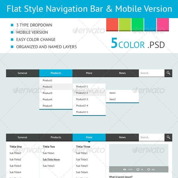 Flat Style Navigation