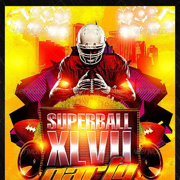 Superbowl Party Flyer Template