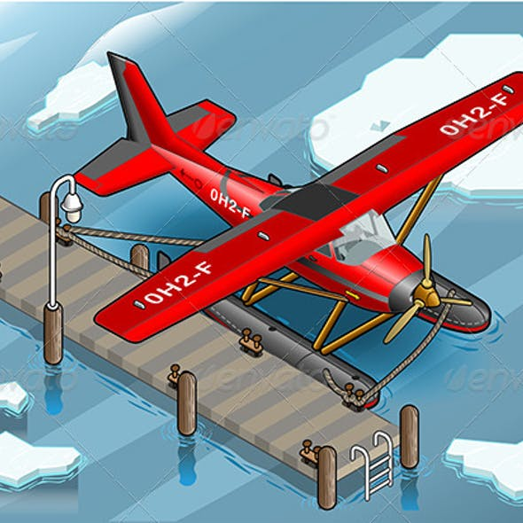 Isometric Artic Hydroplane at Pier