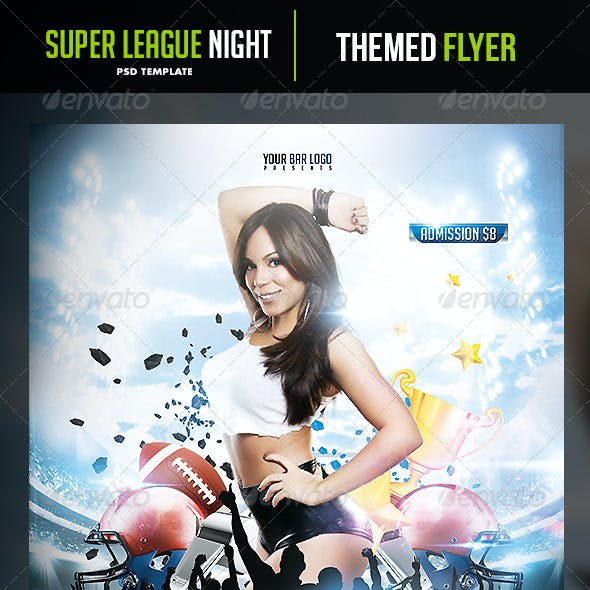 Super League Night Flyer Template