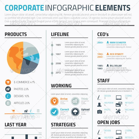 Minimal Infographic Corporate Vector Elements