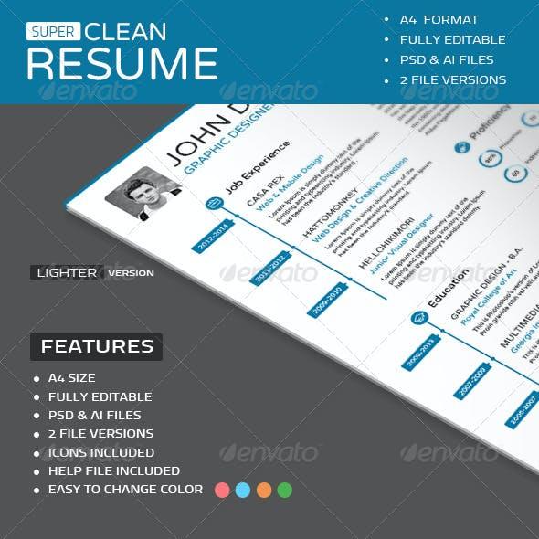 Super Clean Resume
