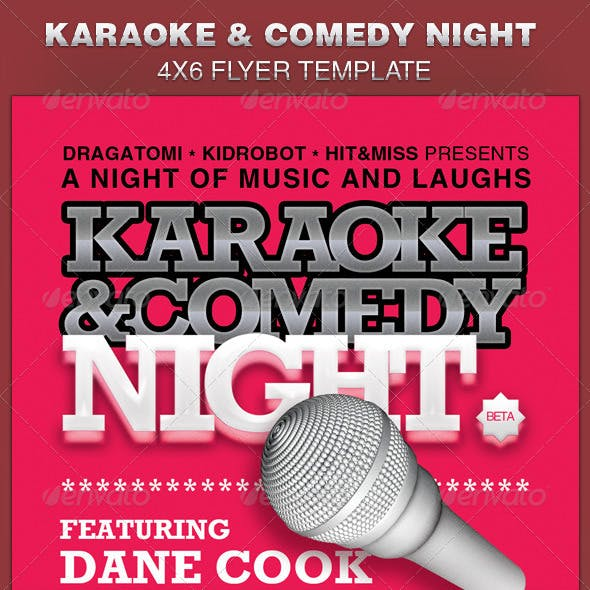 Karaoke and Comedy Night Flyer Template
