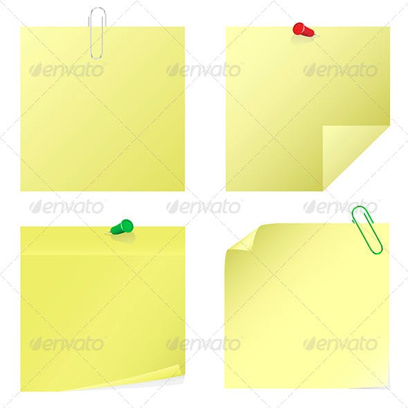 Yellow Notice Stickers