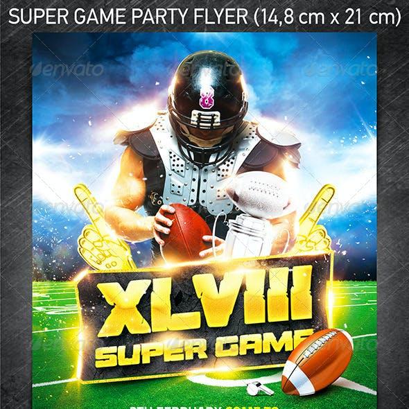American Football Super Game Flyer Vol.1